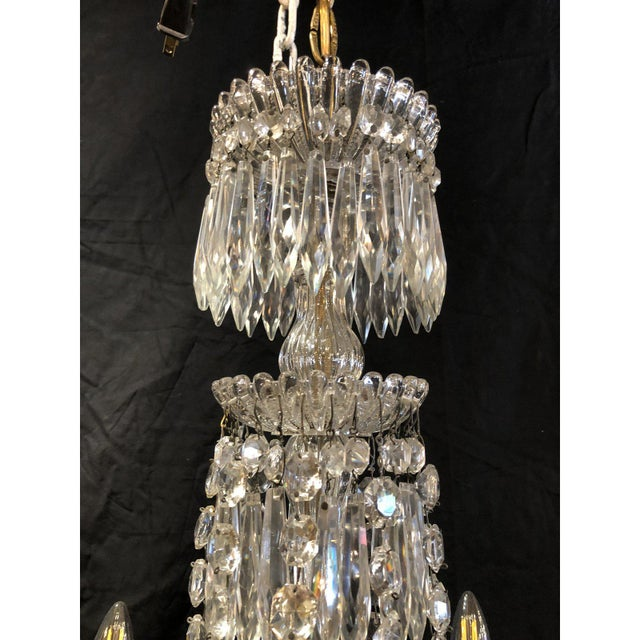 Gorgeous Napoleon III signed Portieux Chandelier. Newly Rewired. Circa 1870s. Founded in the 17th century this small...