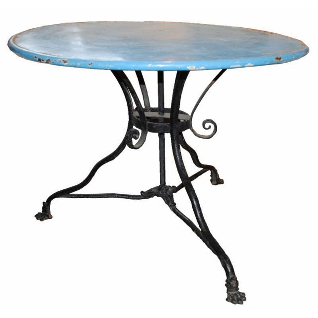 19th Century Iron Cafe Table For Sale In Boston - Image 6 of 6