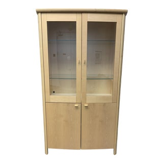 Kovby Danish Maple Display Cabinet For Sale