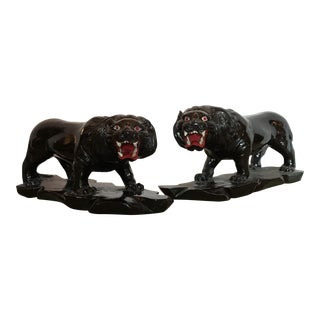 1950s Vintage Black Panthers - Pair