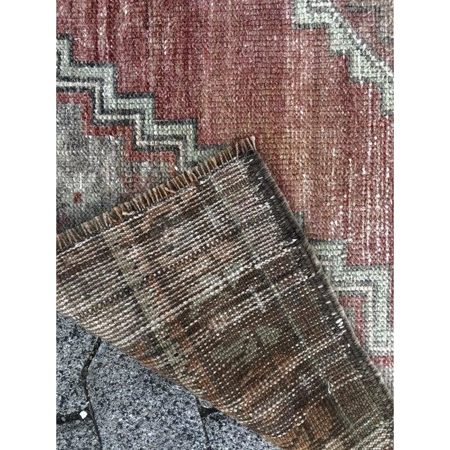 Oushak Handmade Distressed Antique Floor Carpet For Sale - Image 10 of 11