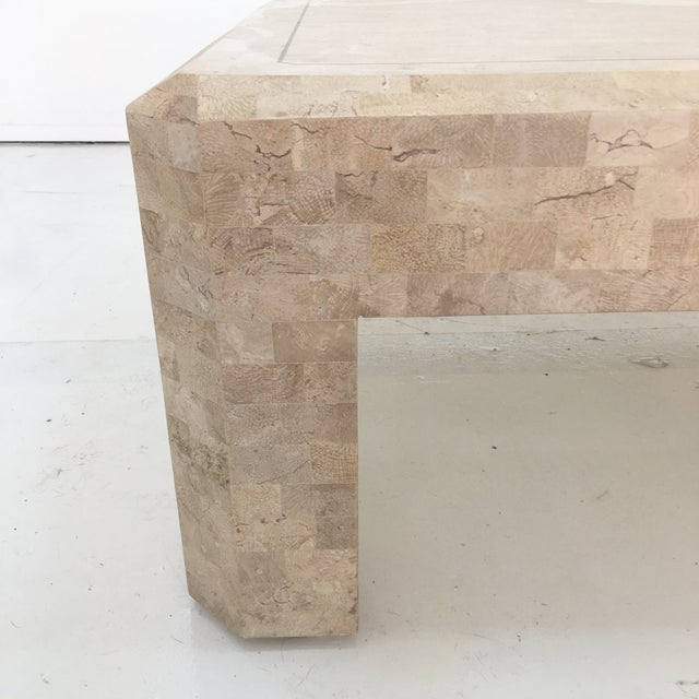 Art Deco Maitland Smith Tessellated Stone Coffee Table For Sale - Image 10 of 13