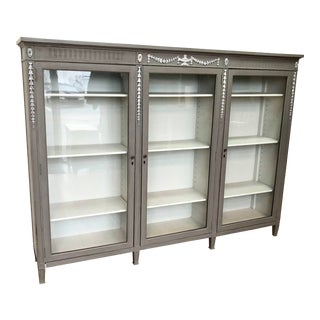 1930s Federal Style Painted Bookcase For Sale