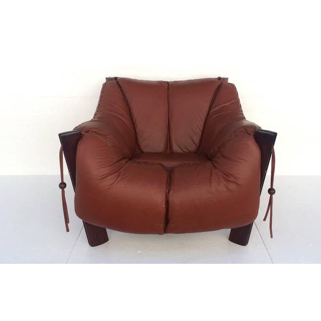 Jacaranda Rosewood & Leather Lounge Chair by Percival Lafer - Image 2 of 10