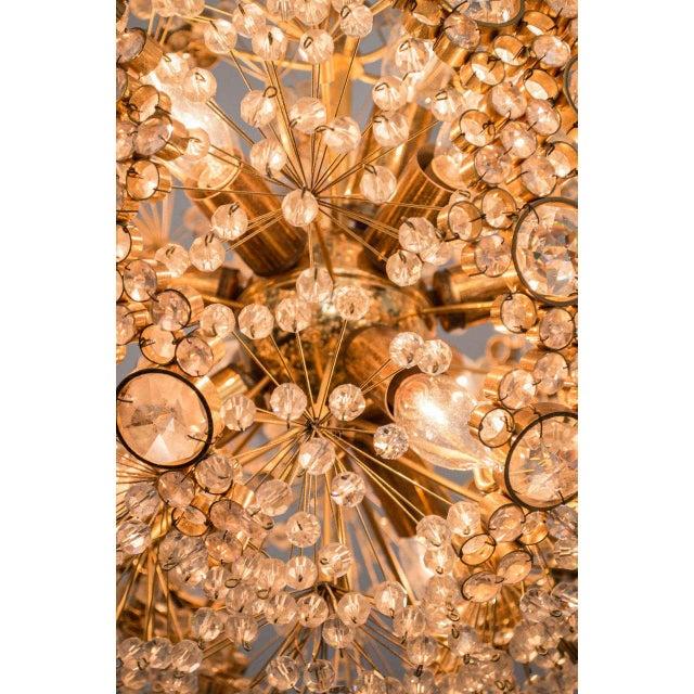 J. & L. Lobmeyr Gilt Brass J.L. Lobmeyr Chandelier For Sale - Image 4 of 9