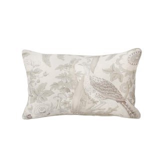 Schumacher Thicket Chinoiserie Lumbar Pillow For Sale