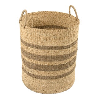 Neale Woven Wire Basket in Brown For Sale