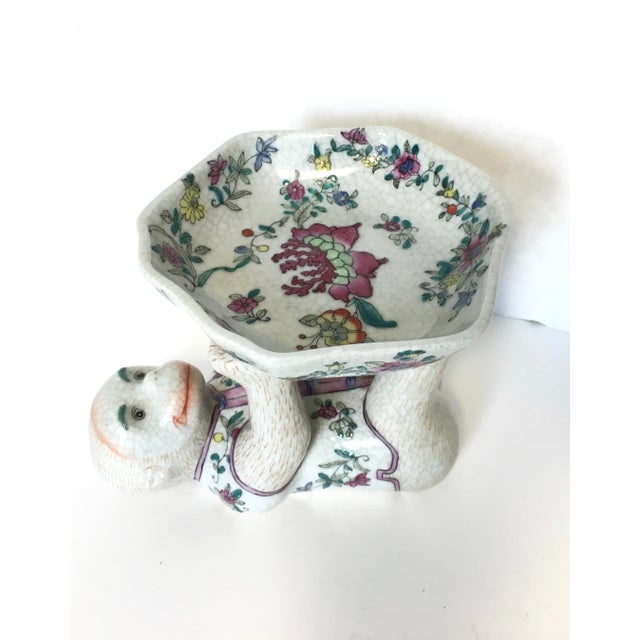 Chinoiserie Porcelain Monkey Dish Bowl For Sale - Image 5 of 6