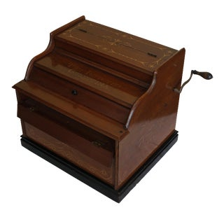 Mechanical Wooden Music Box, Celestina For Sale