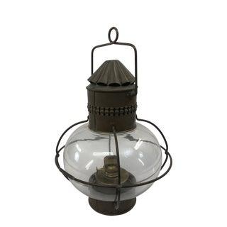 Vintage Brass Nautical Kerosene Lantern Lamp For Sale