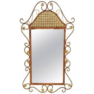 Rustic Metal Wall Mirror