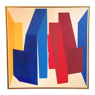 Anders Hegelund Abstract Geometric Oil on Canvas Painting For Sale