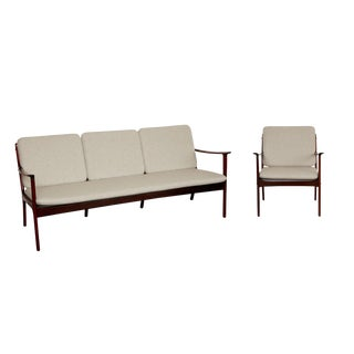 Ole Wanscher Rosewood Sofa and Chair Set For Sale