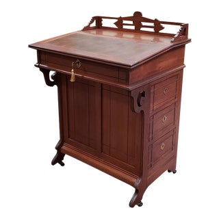 "Victorian Mahogany ""Davenport"" Desk W/ Drawers C.1900 For Sale"