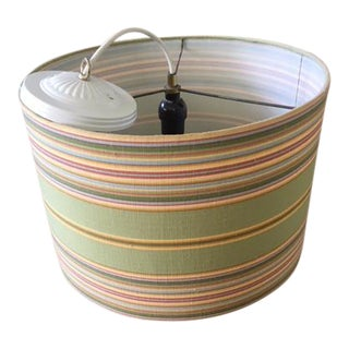 Boho Chic Jamie Young Cabana Stripe Lampshade/Fixture For Sale