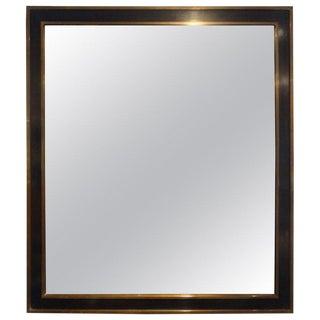 Maison Jansen Attributed French Bronze Mirror For Sale