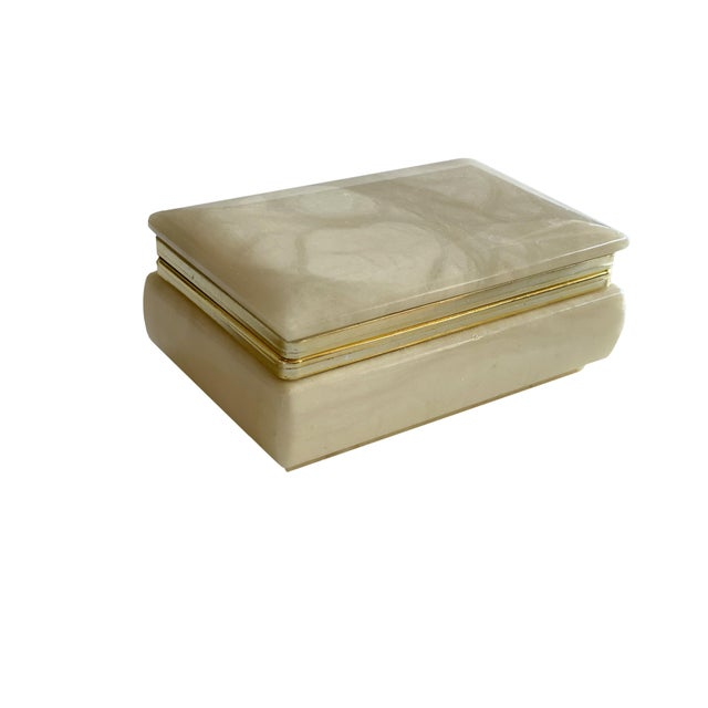 Hand Carved Italian Alabaster Box For Sale - Image 10 of 10