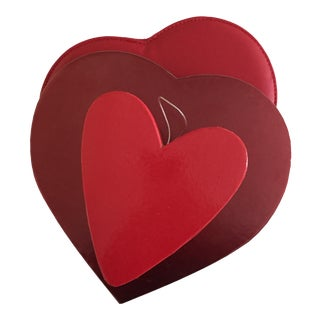 Red Heart Shaped Boxes - Set of 3