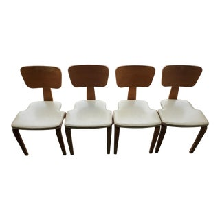 1940s Joe Atkinson for Thonet New York Bent Plywood Chairs - Set of 4 For Sale