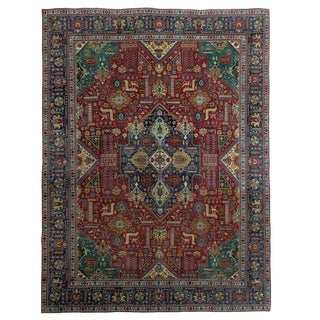 Antique Persian Tabriz Carpet 9'9 X 13' For Sale