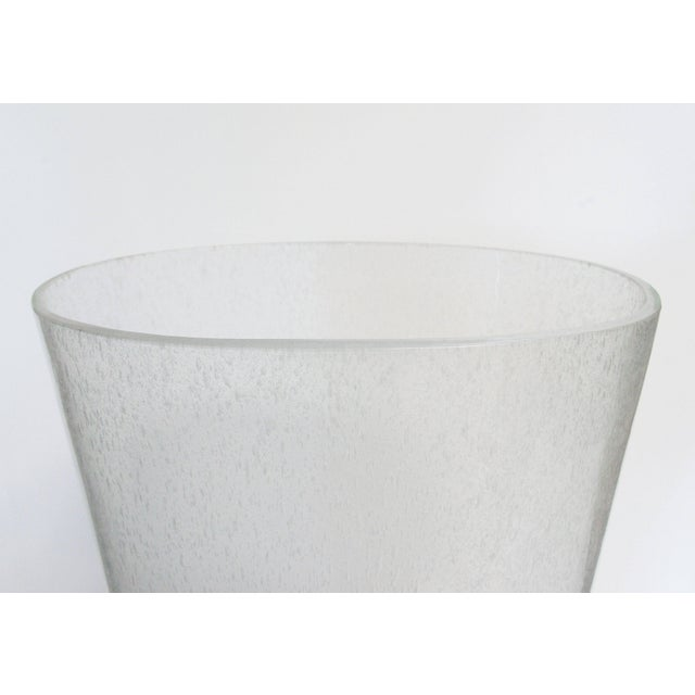 Oversized Italian Clear Bollicine Murano Glass Vases For Sale - Image 4 of 7
