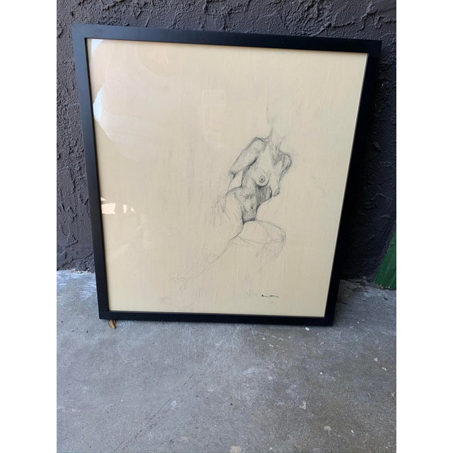 Contemporary Female Nude Drawing For Sale - Image 4 of 5