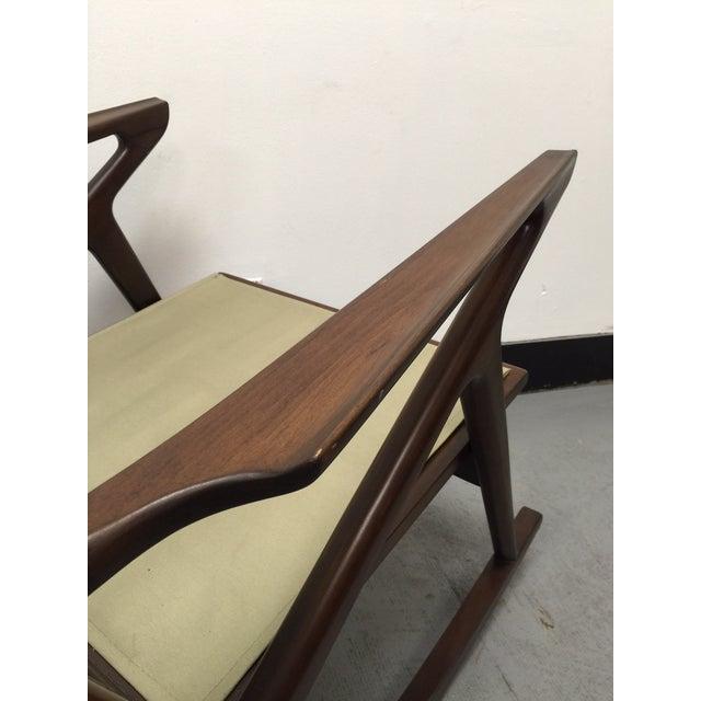 "Mid-Century Custom "" Z "" Rocking Chair - Image 3 of 5"