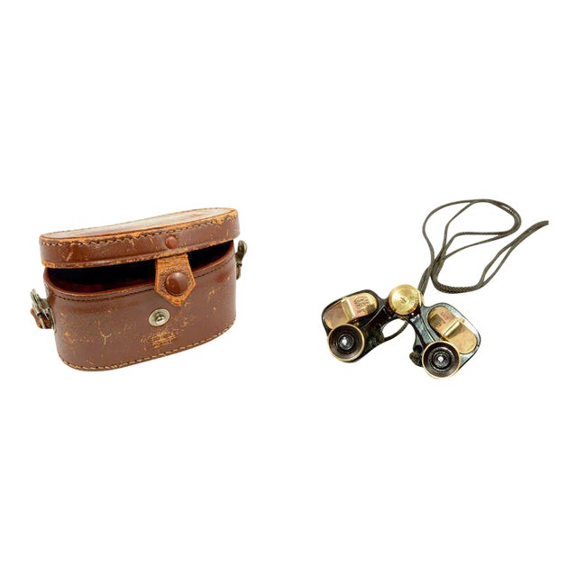 Bushnell Brass Opera Binoculars With Leather For Sale