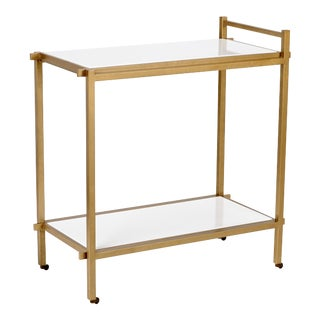 Chelsea House Inc Gold Bar Cart For Sale