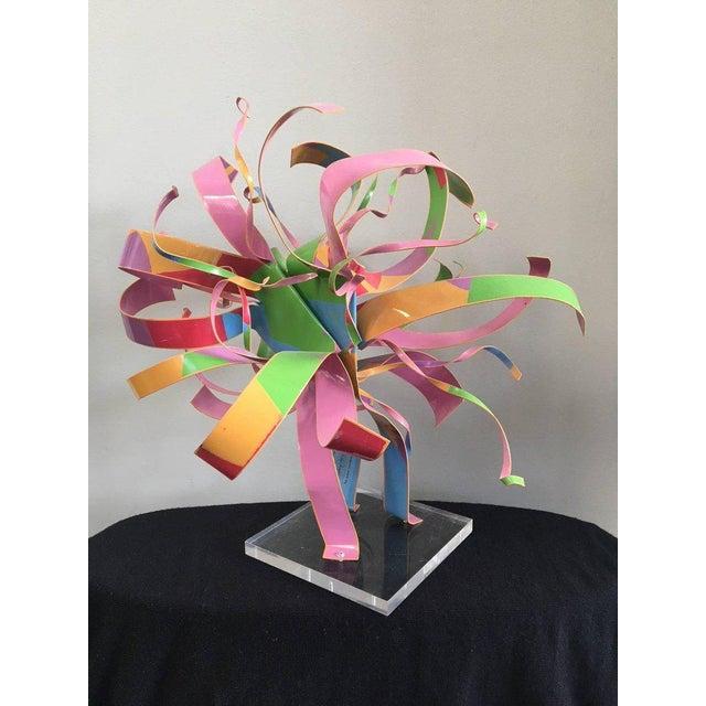 Dorothy Gillespie Starburst Metal Modern Art Sculpture For Sale - Image 5 of 7
