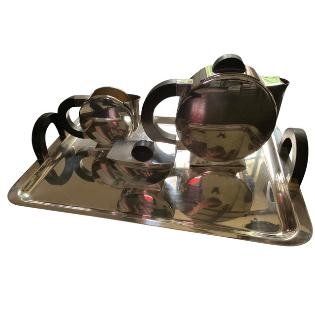 Silver Vintage Christofle Deco Tea Set For Sale - Image 8 of 8