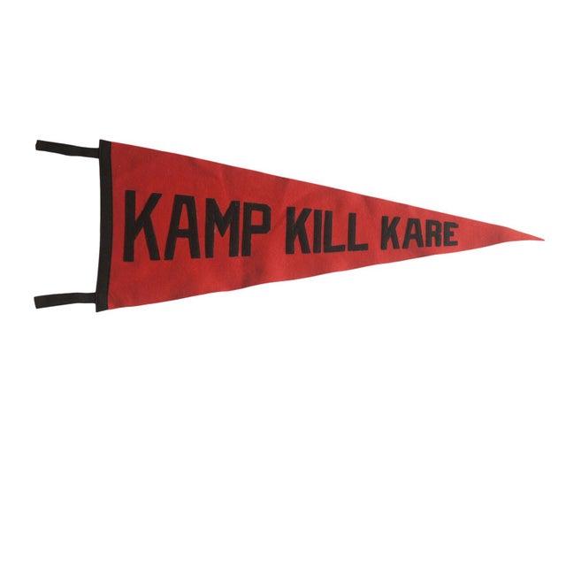 Vintage Kamp Kill Kare Felt Flag Pennant For Sale In New York - Image 6 of 6