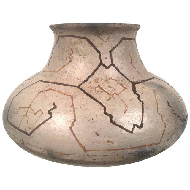 Hand-Painted Peruvian Shipibo Pottery Vase For Sale - Image 10 of 10