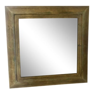 Uttermost Square Mirror With Crackle Finish For Sale