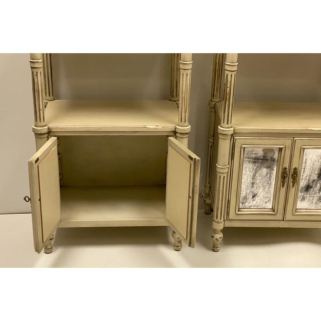 Late 20th-C. Gustavian or Swedish Style Etageres / Bookshelves - Pair For Sale - Image 4 of 6