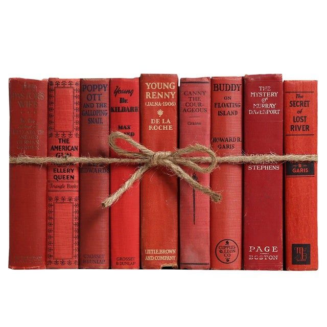Vintage Orchard ColorPak - Decorative Books of Shades of Red For Sale