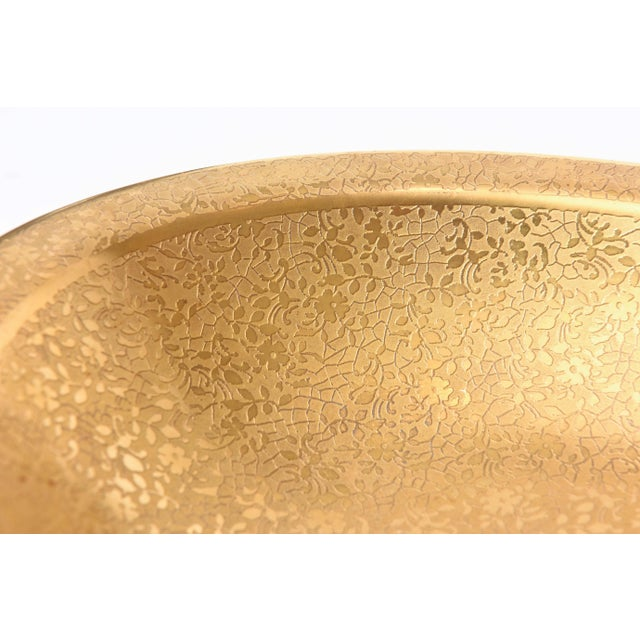 Early 20th Century Pair of Gold Decorated Serving Bowls For Sale - Image 5 of 11