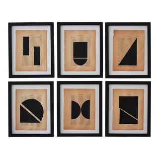 Josh Young Design House Noir Géométrique Collection Paintings, 6 Pieces For Sale