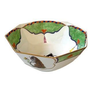 Late 20th Century Vintage Lynn Chase Tiger Raj Octagonal Bowl For Sale
