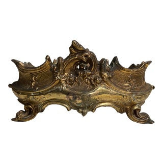 French Brass Rococo Jardinere For Sale