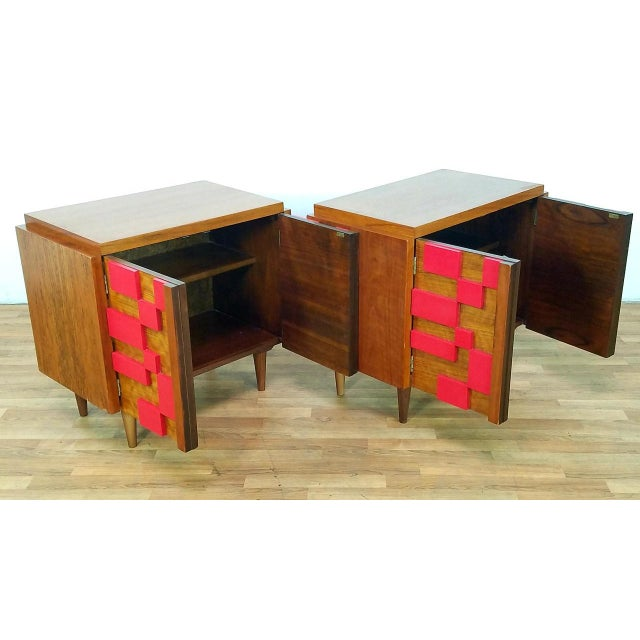 Lane Furniture 1960s Mid Century Modern Lane End Tables - a Pair For Sale - Image 4 of 13