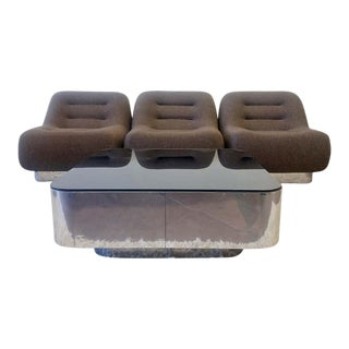 1970s M. F. Harty for Stow Davis Tomorrow Sofa Chairs and Table Set - Set of 4 For Sale