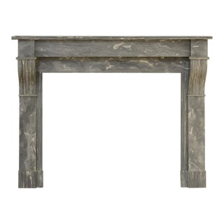 Lovely Petite French Marble Fireplace For Sale