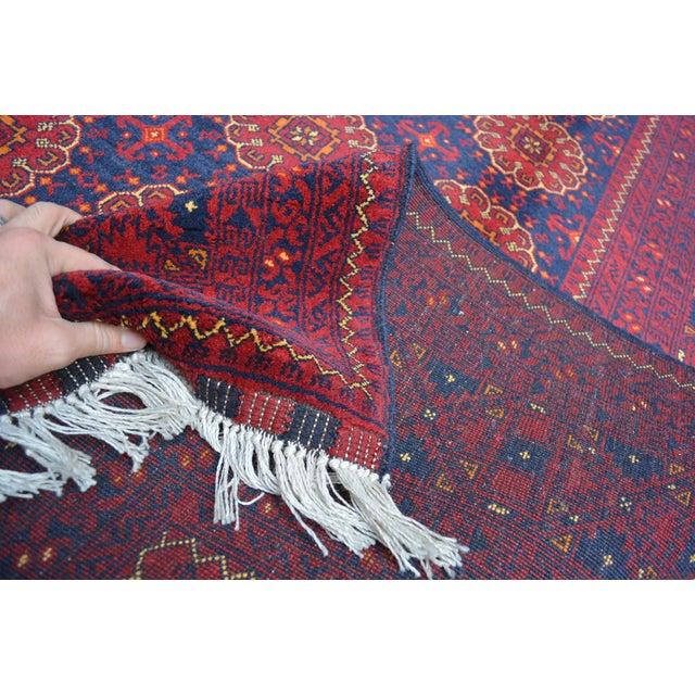 Brick Red Afghan Best Rug For Sale - Image 8 of 11