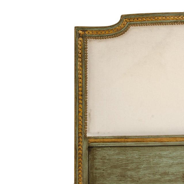 1940s 1940s French Louis XVI Style Painted Queen Size Bedframe For Sale - Image 5 of 7