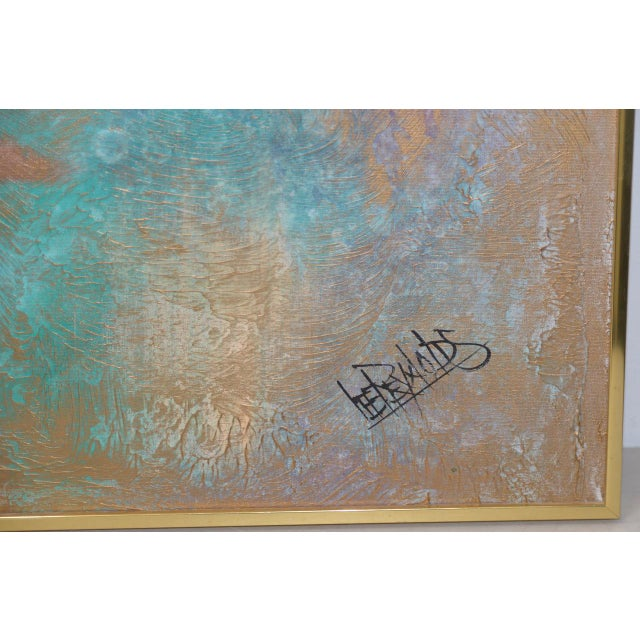 Lee Reynolds Vanguard Studios Mid Century Abstract Oil Painting C.1960s For Sale In San Francisco - Image 6 of 8