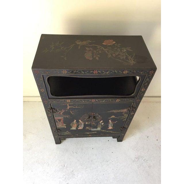 1970s Vintage Asian Style Black Cabinet/Bar/Server For Sale - Image 5 of 7