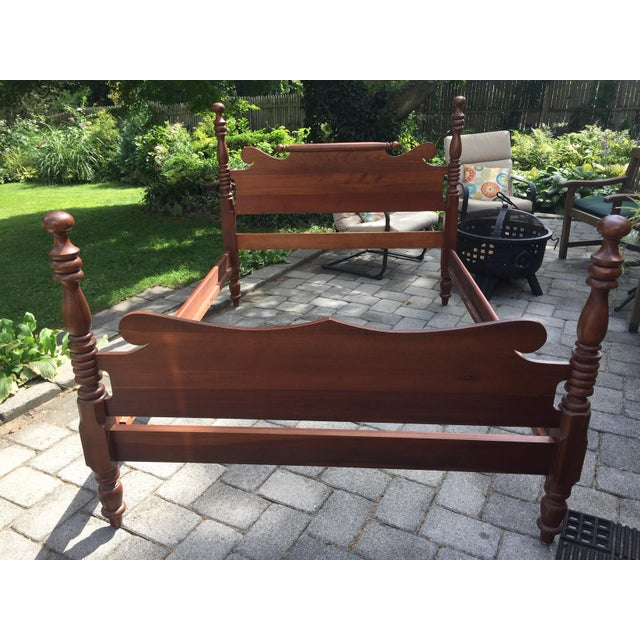 20th Century Full-Size Cherry Bedframe For Sale - Image 10 of 13