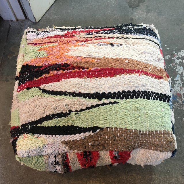 Amazing pouf/floor pillow made from a vintage Moroccan rugs. Each pouf is one of a kind. A perfect way to brighten up a...