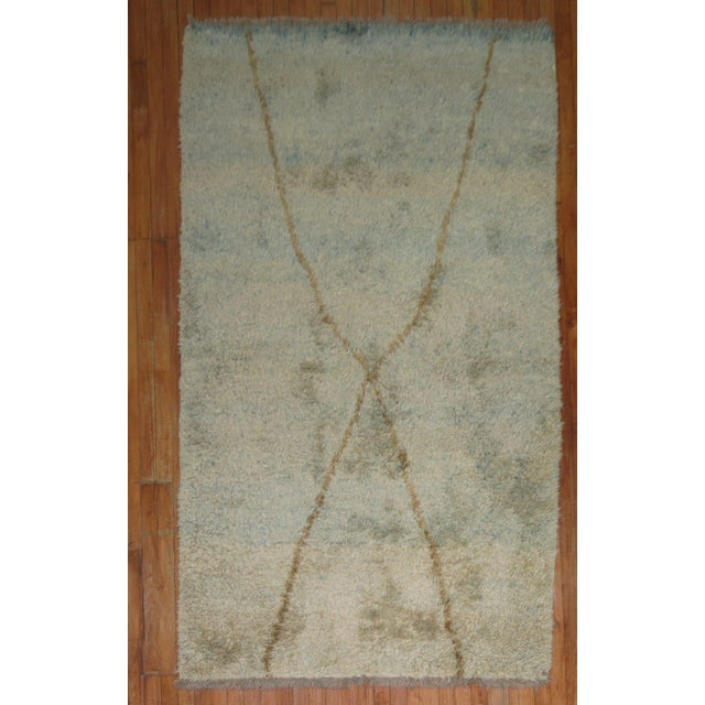 Turkish Tulu Shag Rug -- 4'6'' x 7'4'' - Image 2 of 6